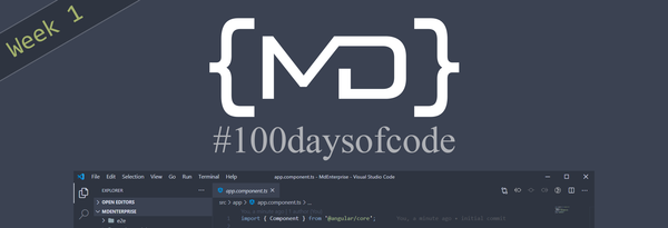 #100daysofcode Week 1